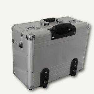 Alukoffer als Pilotenkoffer mit Teleskoptrolleysystem - OMEGA