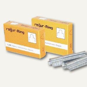 Regur Gold Ringösen-Heftklammern RR 8mm, 1.000er Pack, RR 8 mm