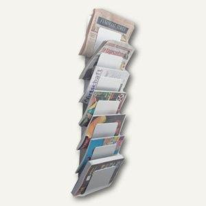Officio Wandzeitungshalter Mit 7 Fachern 930 X 200 X 100 Mm