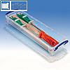 Really Useful Box Aufbewahrungsbox Transparent 355 x 100 x 40 mm | Stifte etc. (1 Stück)