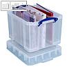 Really Useful Box Aufbewahrungsbox 35 Liter Transparent 480 x 390 x 345 mm | Vinyl-LPs (1 Stück)