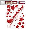 Weihnachts-Fensterbild SCHLITTENFAHRT, ablösbare Folie, rot, 5 Sticker, 15112