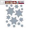 Herma Weihnachts-Fensterbild STERNE, ablösbare Folie, silber, 75 Sticker, 15110