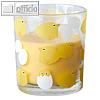 """Papstar Glas mit Wachsfüllung """"Chicken"""", (Ø)71 x (H)80 mm, gelb, 12 Stück, 87577"""