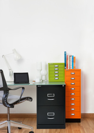 Bisley-Schränke im Büro